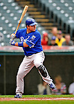 13 September 2008: Kansas City Royals' first baseman Billy Butler at bat against the Cleveland Indians at Progressive Field in Cleveland, Ohio. The Royals defeated the Indians 8-3 in the first game of their rain delayed double-header...Mandatory Photo Credit: Ed Wolfstein Photo