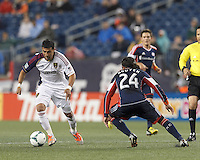 Real Salt Lake midfielder Javier Morales (11) on the attack.