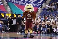GREENSBORO, NC - MARCH 06: Boston College mascot Baldwin the Eagle during a game between Boston College and Duke at Greensboro Coliseum on March 06, 2020 in Greensboro, North Carolina.