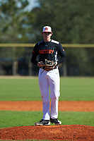 Chase Allsup (13) of Dothan, Alabama during the Baseball Factory All-America Pre-Season Rookie Tournament, powered by Under Armour, on January 14, 2018 at Lake Myrtle Sports Complex in Auburndale, Florida.  (Michael Johnson/Four Seam Images)
