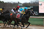 HOT SPRINGS, AR - FEBRUARY 19: Ezmosh #11, with jockey Gary Stevens aboard at the start of the Southwest Stakes at Oaklawn Park on February 19, 2018 in Hot Springs, Arkansas. (Photo by Justin Manning/Eclipse Sportswire/Getty Images)