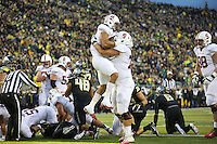 STANFORD, CA-NOVEMBER 2, 2014- The Stanford Cardinal trail the Oregon Ducks 13-24 at the half at Autzen Stadium in Eugene, OR.