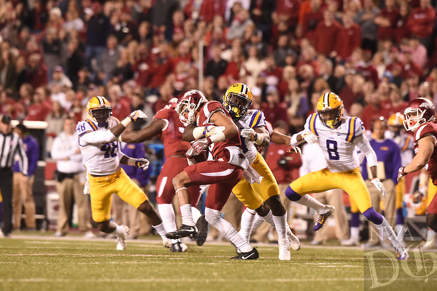 NWA Democrat-Gazette/MICHAEL WOODS &bull; @NWAMICHAELW<br /> The University of Arkansas Razorbacks vs the LSU Tigers Saturday, November 12, 2016 during the Razorbacks 38-10 loss at Razorback Stadium in Fayetteville.