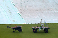 Groundman's equipment next to the covers during Yorkshire CCC vs Essex CCC, Specsavers County Championship Division 1 Cricket at Emerald Headingley Cricket Ground on 13th April 2018