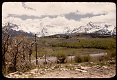 Sneffels Range from Dallas Divide as viewed from the RGS grade near MP 12.4, perhaps near the Highway 62 crossing.<br /> RGS  Valley View, CO  Taken by Maxwell, John W. - 5/31/1946