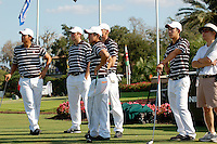 WINDEMERE, FL - OCTOBER 24:  Sihwan Kim, Matt Tight, Andrew Yun, and David Chung of the Stanford Cardinal during the Isleworth Collegiate on October 24, 2009 in Windemere, Florida.