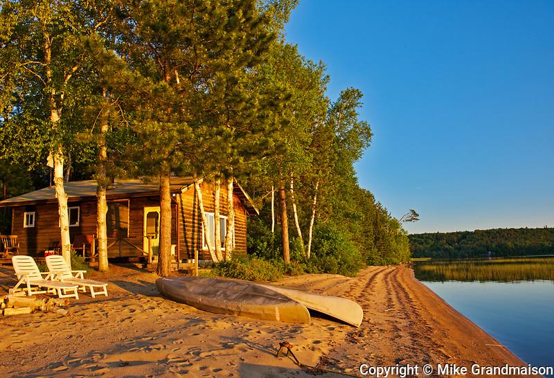 Cotage at sunrise on Lac des Sables<br />Belleterre<br />Quebec<br />Canada
