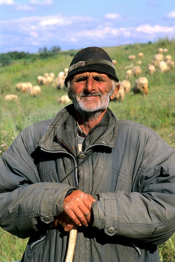 Croatia beautiful coast portrait of older sheep herder near Dubrovnik Croatia
