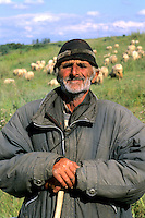 Croatia beautiful coast portrait of older sheep herder near Dubrovnik Croatia