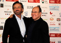 Giornate Professionali del Cinema 2014     <br /> Christian de Sisa and Carlo Verdone   during the professional days of cinema in Sorrento december 03 , 2014                         Giornate Professionali del Cinema 2014