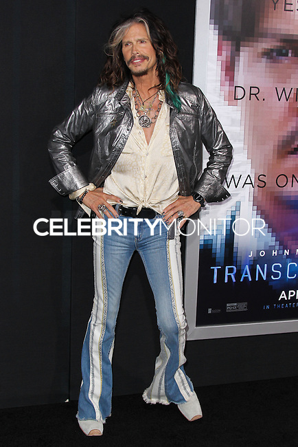 """WESTWOOD, LOS ANGELES, CA, USA - APRIL 10: Steven Tyler at the Los Angeles Premiere Of Warner Bros. Pictures And Alcon Entertainment's """"Transcendence"""" held at Regency Village Theatre on April 10, 2014 in Westwood, Los Angeles, California, United States. (Photo by Xavier Collin/Celebrity Monitor)"""