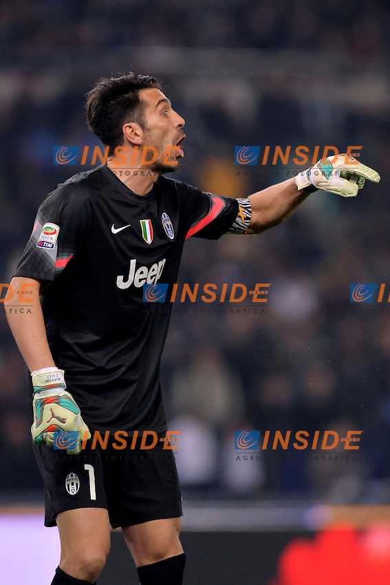 Gianluigi Buffon Juventus.<br /> Roma 22-11-2014 Stadio Olimpico. Football Calcio 2014/2015 Serie A. Lazio - Juventus. Foto Antonietta Baldassarre / Insidefoto