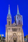 Croatia, Zagreb, Zagreb Cathedral at Dawn
