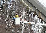JCP&L Crews work on restoring power on Mt. Arlington Blvd. in Mt. Arlington, New Jersey