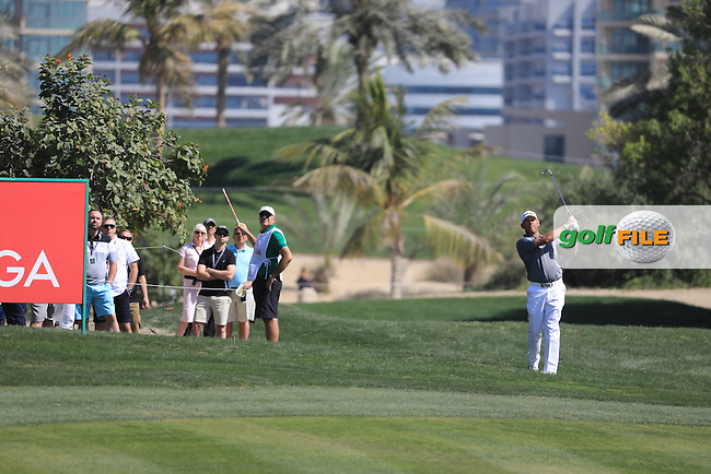 Lee Westwood (ENG) on the 9th during the final round of the Omega Dubai Desert Classic, Emirates Golf Club, Dubai,  United Arab Emirates. 05/02/2017<br /> Picture: Golffile | Fran Caffrey<br /> <br /> <br /> All photo usage must carry mandatory copyright credit (&copy; Golffile | Fran Caffrey)