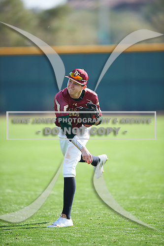 Ricky Clark (11) of Jupiter High School in Jupiter, Florida during the Under Armour All-American Pre-Season Tournament presented by Baseball Factory on January 14, 2017 at Sloan Park in Mesa, Arizona.  (Mike Janes/Mike Janes Photography)