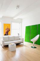 Modern green artwork