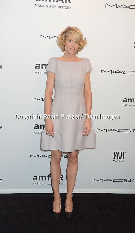 Jenna Elfman attends the amfAR New York Gala to kick off Fashion Week on February 6, 2013 at Cipriani Wall Streetin New York City. The honorees were Heidi Klum, Janet Jackson  and Kenneth Cole.