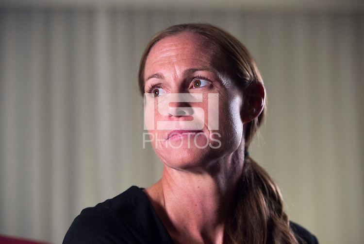 Winnipeg, Canada- June 5, 2015: In preparation for the FIFA Women's World Cup members of the USWNT are filmed for the team website.