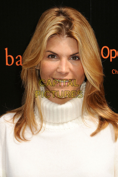 LORI LOUGHLIN .Pottery Barn Kids Halloween Carnival Benefit for Operation Smile held at a Private Residence, Beverly Hills, California, USA, .23rd October 2010..portrait headshot white polo neck cream .CAP/ADM/BP.©Byron Purvis/AdMedia/Capital Pictures.