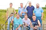 GUN CLUB: The Killorglin Gun Club competing at the Knocknagoshel shooting grounds on Saturday front l-r: Domic Flaherty, John West and Earl Poff. Back l-r: Danny Joy, Hurbert Poff, John James Poff and George Poff.