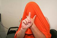 SÃO PAULO, SP, 14 DE MARÇO 2013. SUSPEITO PEDOFILIA PRISÃO -  Supeito/Indiciado de ser pedófilo é preso na região da Av Pompeia. Donizette Gonçalves (49), também conhecido como Palhaço Pirulito, foi preso depois de marcar encontro com o menor V.S.N (11). O suspeito na terça-feira, (12) teria pedido informações ao menor, de uma loja de material de construção na regiao da Pompeia e como não entendeu direito pediu que o menor entrasse no carro dele. Durante o trajeto o mesmo falou em sexo e pediu o telefone do menor dizendo que era agenciador de time de futebol, o menor passou o telefone do pai. Na quarta-feira (13) Donizette, que deu o nome de Marcos, passou mensagem querendo encontra-lo, perto da loja de material de construção, o pai recorreu ao 14DP e policiais montaram campana e prenderem o suspeito. No carro foram encontrados CDs e DVDs com fotos eróticas bem como celulares com mensagens suspeitas. Prisão aconteceu na tarde desta quinta-feira 14. FOTO: MAURICIO CAMARGO / BRAZIL PHOTO PRESS.