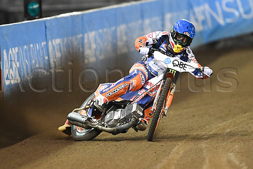 27th October 2017, Etihad Stadium, Melbourne, Australia; QBE Insurance Australian FIM Speedway Grand Prix, Practice Session; Emil Sayfutdinov of Russia rides during practice