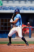 Charlotte Stone Crabs third baseman Kevin Padlo (11) at bat during a game against the Palm Beach Cardinals on April 12, 2017 at Charlotte Sports Park in Port Charlotte, Florida.  Palm Beach defeated Charlotte 8-7.  (Mike Janes/Four Seam Images)