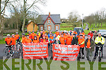 St. Patrick's Day Cycle: The cyclists who took part in  St. Patrick's Day Cycle from Listowel to Abbeyfeale and back and supporting the Great Southern Trail from Abbeyfeale to Listowel pictured prior to departure in the town park in Listowel on Sunday morning last.