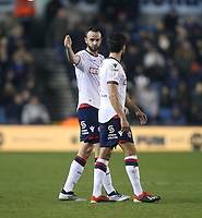 Bolton Wanderers' Marc Wilson and Jason Lowe<br /> <br /> Photographer Rob Newell/CameraSport<br /> <br /> The EFL Sky Bet Championship - Millwall v Bolton Wanderers - Saturday 24th November 2018 - The Den - London<br /> <br /> World Copyright &copy; 2018 CameraSport. All rights reserved. 43 Linden Ave. Countesthorpe. Leicester. England. LE8 5PG - Tel: +44 (0) 116 277 4147 - admin@camerasport.com - www.camerasport.com