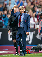 celebrate at full time during the Premier League match between West Ham United and Manchester United at the Olympic Park, London, England on 22 September 2019. Photo by Andy Rowland / PRiME Media Images.
