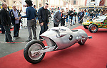 LONDON INTERNATIONAL CLASSIC AND CUSTOM SHOW  - Alexandra Palace  - 26.2.12.John Holt made this  725cc Road Shark one off custom bike made in aluminium..Picture by Gavin Rodgers/ Pixel8000. 07917221968