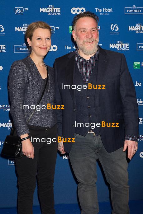 Elise Ancion &amp; Bouli Lanners : 7&egrave;me C&eacute;r&eacute;monie des Magritte du Cin&eacute;ma, qui r&eacute;compense le septi&egrave;me art belge, au Square, &agrave; Bruxelles.<br /> 7th edition of the Magritte du Cinema awards ceremony.<br /> Belgium, Brussels, 4 February 2017