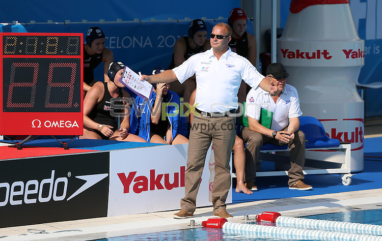 PICTURE BY VAUGHN RIDLEY/SWPIX.COM - Water Polo - 15th FINA World Championships 2013 - Great Britain v Canada - Bernat Picornell Swimming Pool, Barcelona, Spain - 21/07/13 - Great Britain's Head Coach Paul Metz.