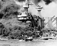 The attack on Pearl Harbor or Hawaii Operation as it was called by the Imperial General Headquarters[6], was a surprise attack against the United States' naval base at Pearl Harbor, Hawaii by the Japanese navy, on the morning of Sunday, December 7, 1941, resulting in the United States becoming involved in World War II. It was intended as a preventive action to remove the U.S. Pacific Fleet as a factor in the war Japan was about to wage against Britain, the Netherlands, and the United States. Two aerial attack waves, totaling 353[7] aircraft, launched from six Japanese aircraft carriers.<br /> <br /> The attack wrecked two U.S. Navy battleships, one minelayer, and two destroyers beyond repair, and destroyed 188 aircraft; personnel losses were 2,388 killed and 1,178 wounded. Damaged warships included three cruisers, a destroyer, and six battleships (one deliberately grounded, later refloated and repaired; two sunk at their berths, later raised, repaired, and eventually restored to Fleet service). Vital fuel storage, shipyard, maintenance, and headquarters facilities were not hit. Japanese losses were minimal, at 29 aircraft and five midget submarines, with 65 servicemen killed or wounded.