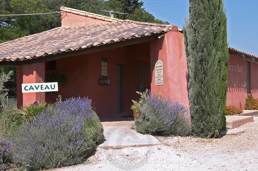 wine shop chateau de nages rhone france
