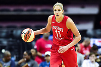 Washington, DC - May 27, 2018: Washington Mystics guard Elena Delle Donne (11) brings the ball up court during game between the Mystics and Lynx at the Capital One Arena in Washington, DC. (Photo by Phil Peters/Media Images International)