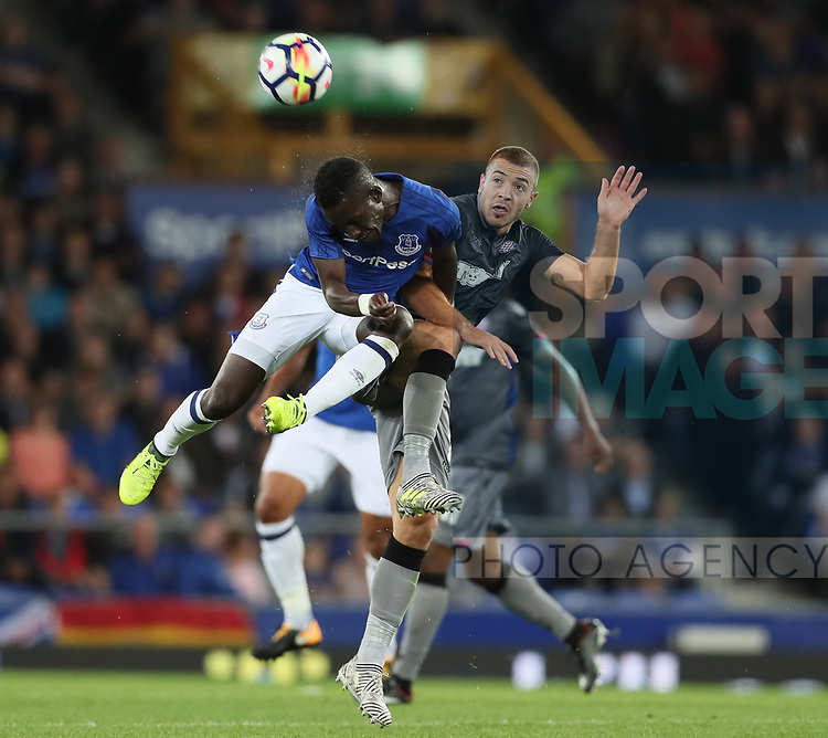 Idrissa Gueye of Everton tussles with Josip Radosevic of Hajduk Split during the Europa League Qualifying Play Offs 1st Leg match at Goodison Park Stadium, Liverpool. Picture date: August 17th 2017. Picture credit should read: David Klein/Sportimage