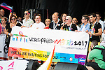 Presidents of World Pride Madrid 2017 during the protest Madrid Pride 2016. July 02. 2016. (ALTERPHOTOS/Borja B.Hojas)