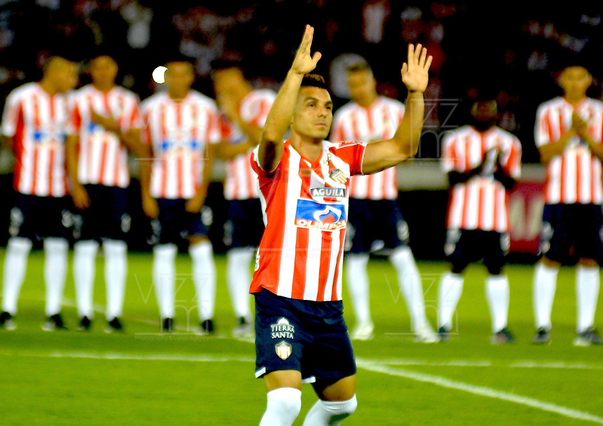 BARRANQUILLA – COLOMBIA – 17 – 01 - 2018: Jorge Aguirre, durante presentación de nuevos jugadores del Atletico Junior, en la Liga Aguila I 2018, en el estadio Metropolitano Roberto Melendez, de la ciudad de Barranquilla. / Jorge Aguirre, during the presentation of new players of Atletico Junior, in Liga Aguila I 2018, at the Roberto Melendez Metropolitan Stadium, in the city of Barranquilla. Photo: Alfonso Cervantes / Cont.