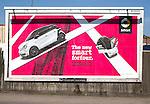 Billboard advertising Mercedes-Benz smart car, Ipswich, Suffolk, England, UK
