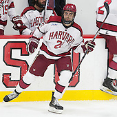 Tommy O'Regan (Harvard - 21) - The Harvard University Crimson defeated the visiting Princeton University Tigers 5-0 on Harvard's senior night on Saturday, February 28, 2015, at Bright-Landry Hockey Center in Boston, Massachusetts.