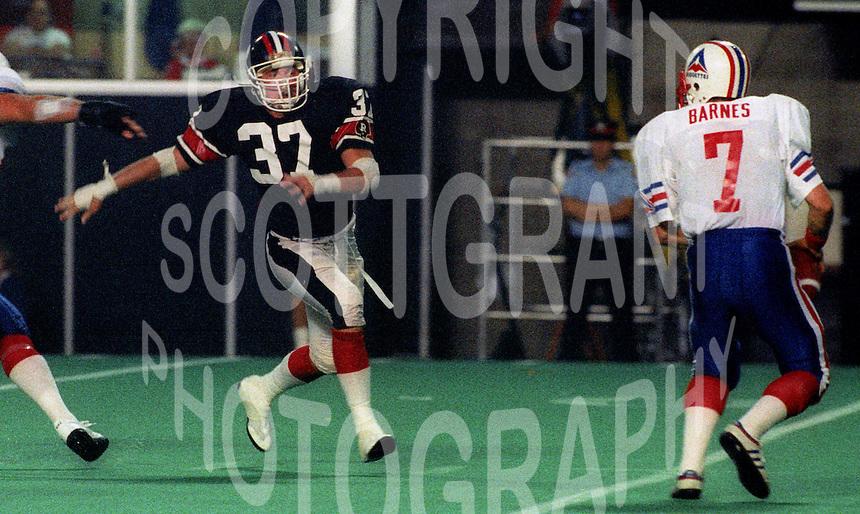 Shane Ireland Ottawa Rough Riders 1986. Photo F. Scott Grant