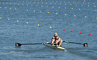 Rio de Janeiro. BRAZIL.  NZL M2-. BOW ERIC MURRAY AND HAMISH BOND,  2016 Olympic Rowing Regatta. Lagoa Stadium,<br /> Copacabana,  &ldquo;Olympic Summer Games&rdquo;<br /> Rodrigo de Freitas Lagoon, Lagoa. Saturday  06/08/2016 <br /> <br /> [Mandatory Credit; Peter SPURRIER/Intersport Images]