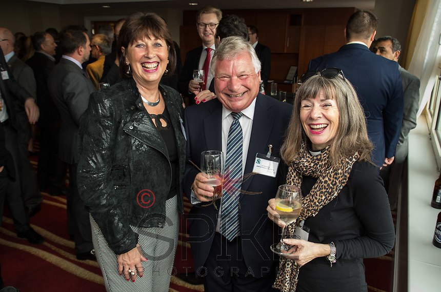 From left are Maggie Ross of Age UK Nottingham & Nottinghamshire and Len Simmonds and Jo Tatum of Nottingham Workplace Chaplaincy