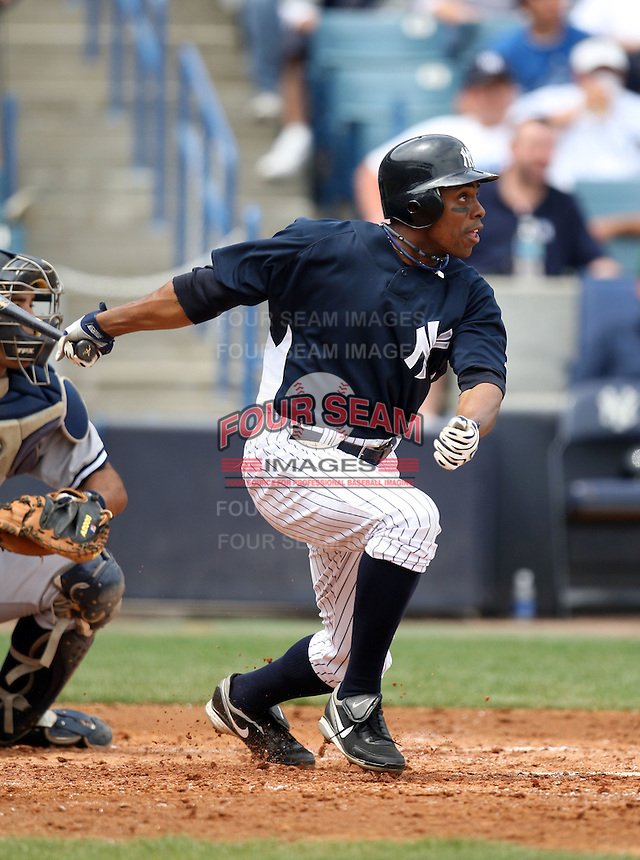 April 3, 2010:  Outfielder Curtis Granderson (14) of the New York Yankees playing in the annual Futures Game during Spring Training at Legends Field in Tampa, Florida.  Photo By Mike Janes/Four Seam Images