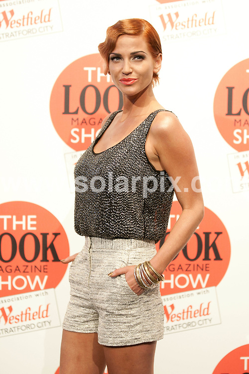 **ALL ROUND PICTURES FROM SOLARPIX.COM**                                             **NO UK NEWSPAPER PUBLICATION**.**UK MAGAZINE & SUPPLEMENT PUBLICATION ONLY** AND NO PUBLICATION IN AUSTRALIA, BELGIUM, FRANCE, GERMANY, ITALY, SCANDINAVIA AND USA**                                                                                London Fashion Week.The LOOK catwalk show at Westfield Stratford City this weekend..2011                                                                      .This pic: Sarah Harding                                                                                     .JOB REF:13974       SFE      DATE:   18.09.11                                                         **MUST CREDIT SOLARPIX.COM OR DOUBLE FEE WILL BE CHARGED**                                                                      **MUST AGREE FEE BEFORE ONLINE USAGE**                               **CALL US ON: +34 952 811 768 or LOW RATE FROM UK 0844 617 7637**