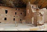 Restored Kiva, Three Story House and Tower, Spruce Tree House, Anasazi Hisatsinom Ancestral Pueblo Site, Chapin Mesa, Mesa Verde National Park, Colorado