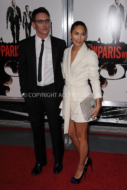 WWW.ACEPIXS.COM . . . . . ....January 28 2010, New York City....Actor Jonathan Rhys Meyers and Reena Hammer arriving at the 'From Paris With Love' premiere at the Ziegfeld Theatre on January 28, 2010 in New York City. ....Please byline: KRISTIN CALLAHAN - ACEPIXS.COM.. . . . . . ..Ace Pictures, Inc:  ..(212) 243-8787 or (646) 679 0430..e-mail: picturedesk@acepixs.com..web: http://www.acepixs.com
