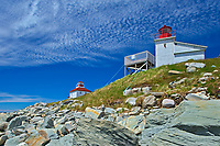Port Bickerton Lighthouse and Lightkeeper's house on rocky shoreline of teh Atlantic Ocean<br />